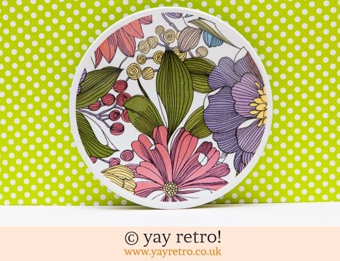17: Rare 60/70s Invitation Tea Plate (£7.00)