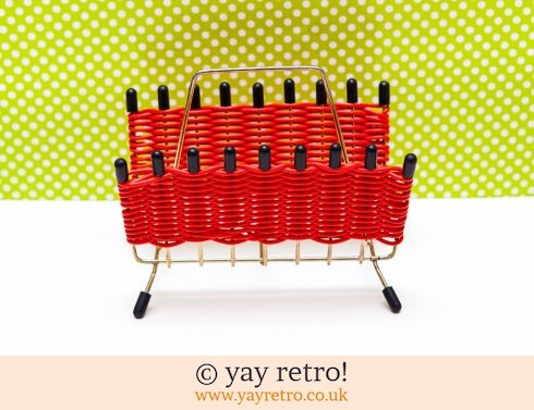 0: Atomic 1950s Red Letter Rack (£12.75)