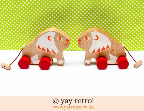 0: Push Along Wooden Lions (£7.50)