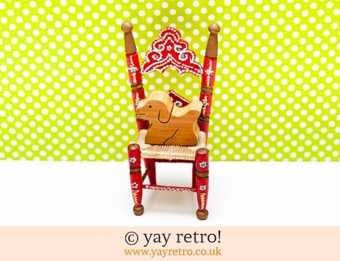 0: Wooden Kitsch Chair and Puppy Dog (£2.50)