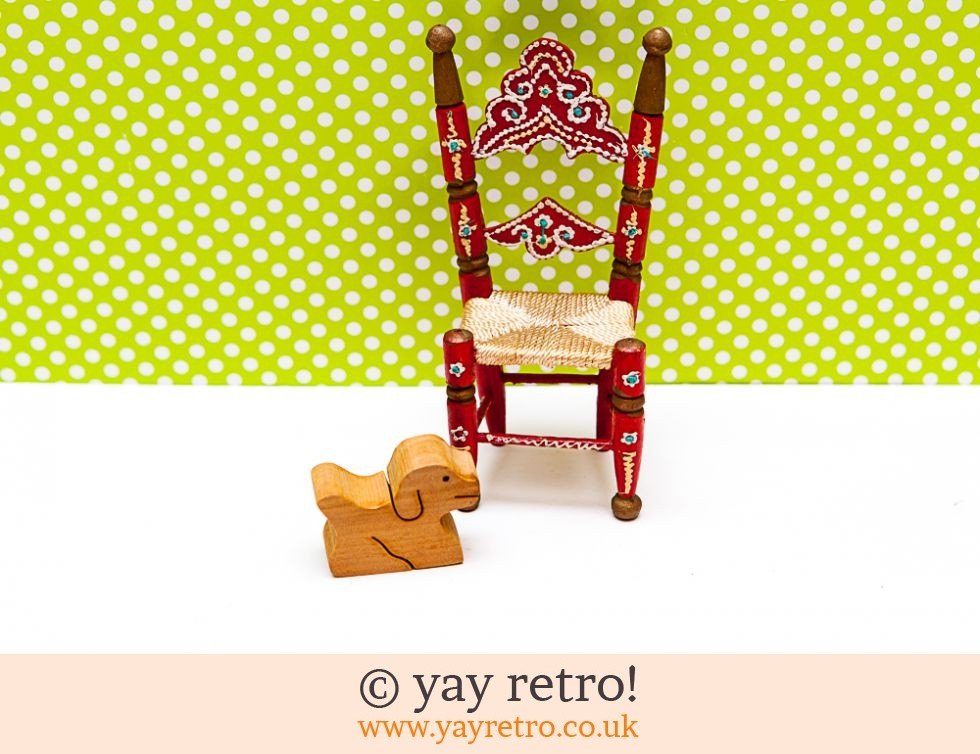 Wooden Kitsch Chair and Puppy Dog (£2.50)