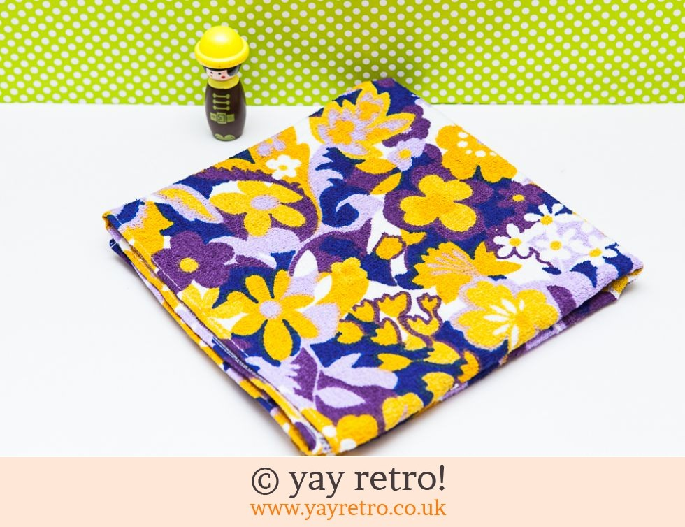 Flower Power Towel - As New (£12.75)