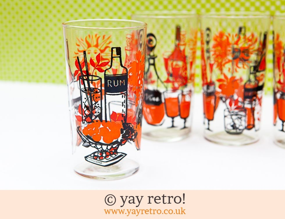 Orange Funky Cocktail Glasses - Stunning (£22.75)