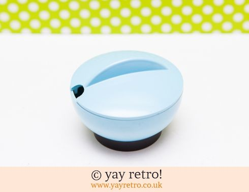 132: 1950s Mustard Pot in Sky Blue (£7.00)