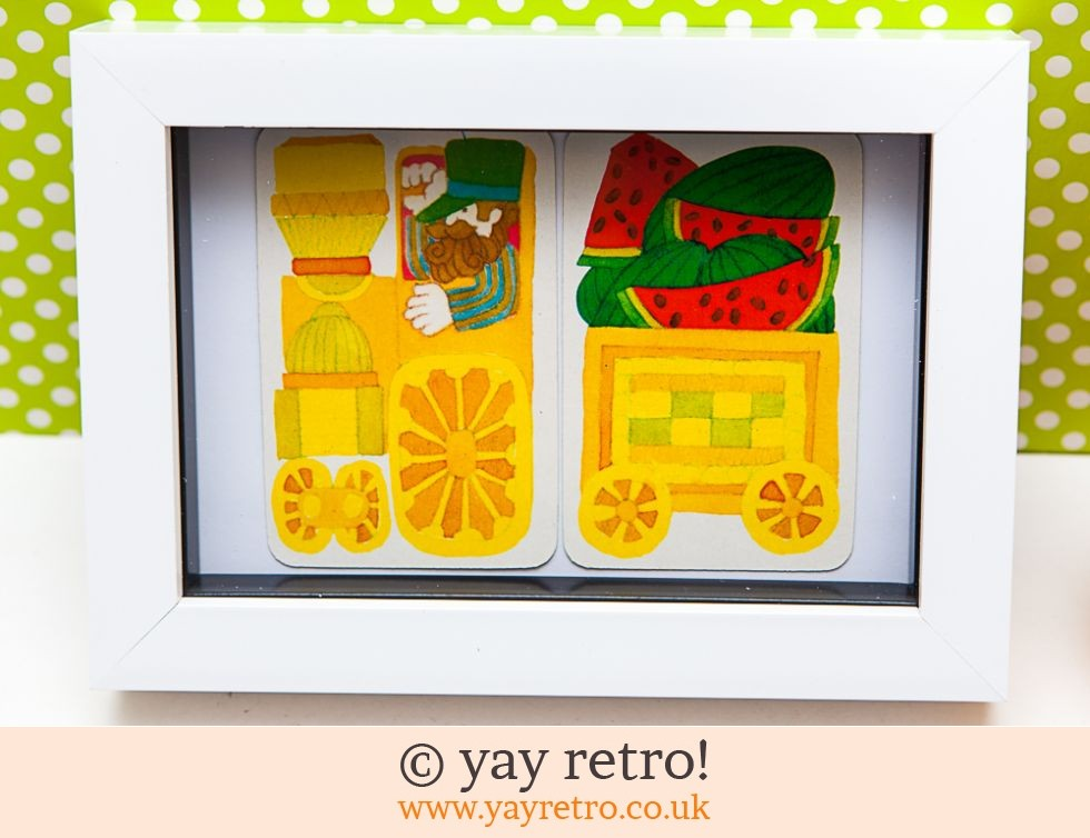 Fruity Train 1970s Framed (£7.50)