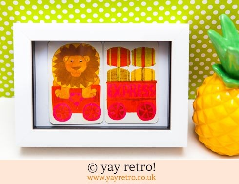 482: 1970s Lion Train Framed (£7.50)