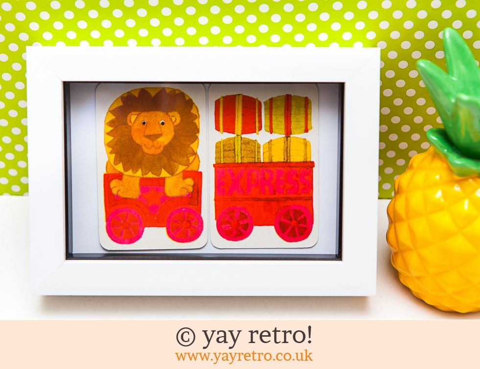 Hallmark: 1970s Lion Train Framed (£8.75)