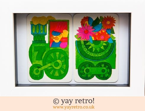 482: Flower Power 1970s Train Framed (£8.50)