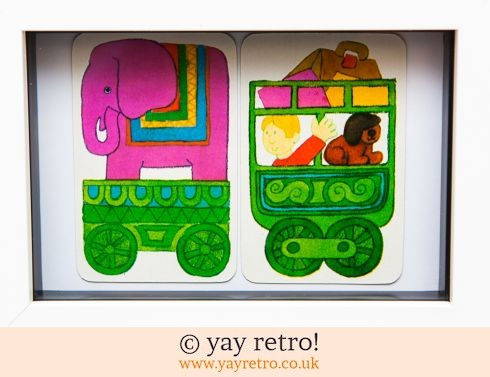 482: 1970s All Aboard the Elephant Train Framed (£8.75)
