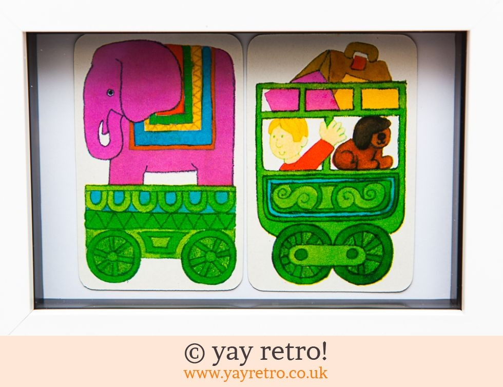 1970s All Aboard the Elephant Train Framed (£7.50)