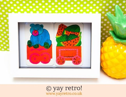 482: Juicy Bear Train Framed (£8.75)