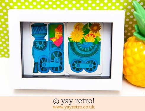 482: Flower Power Train Framed 1970s (£8.50)