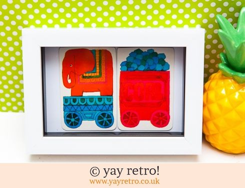 482: 1970s Elephant Train Framed (£7.50)