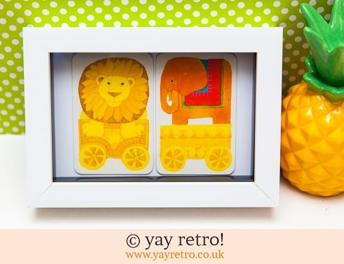 482: Elephant & Lion Train Framed (£7.50)