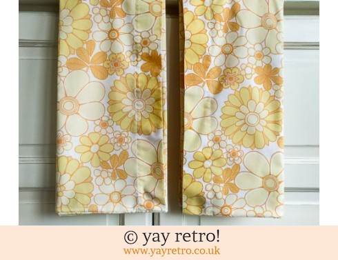 248: Vintage Yellow Flower Pillow Cases (£8.50)