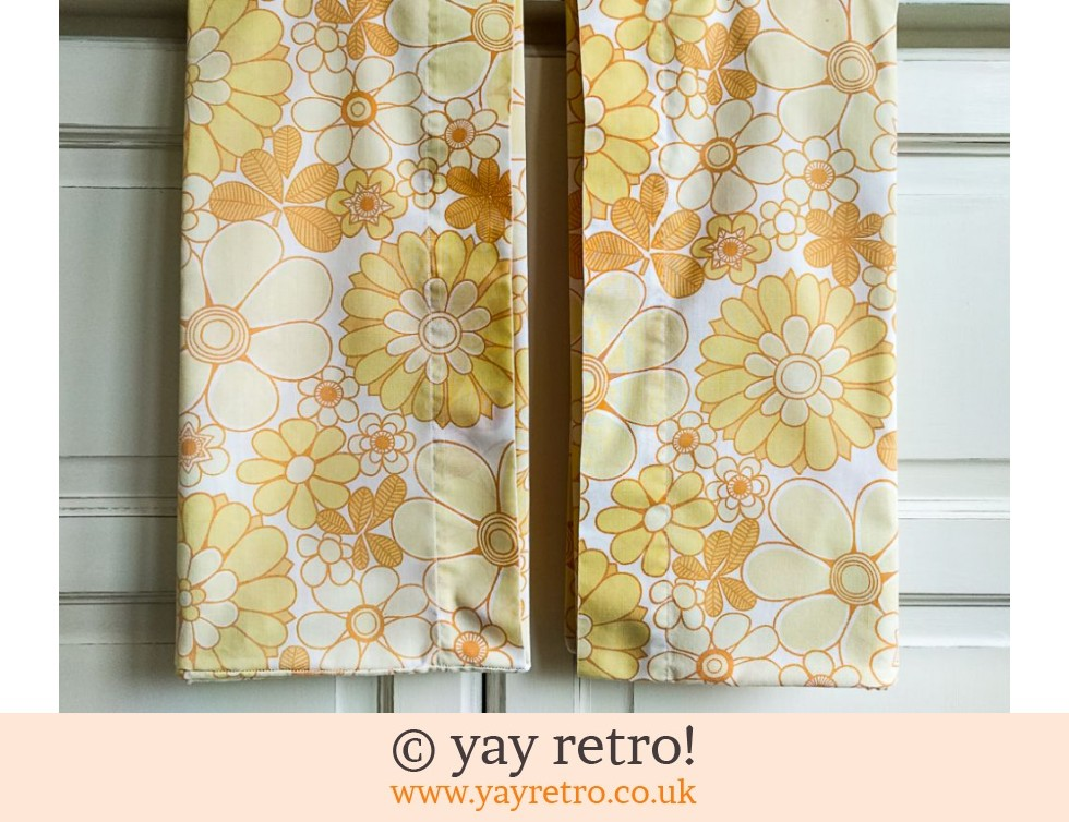 Vintage Yellow Flower Pillow Cases (£8.50)