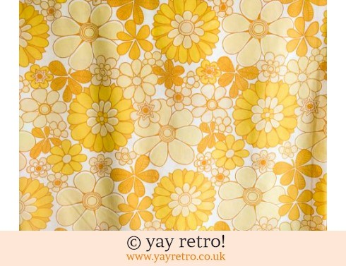 Vintage Double Flower Power Yellow Sheet (£24.50)