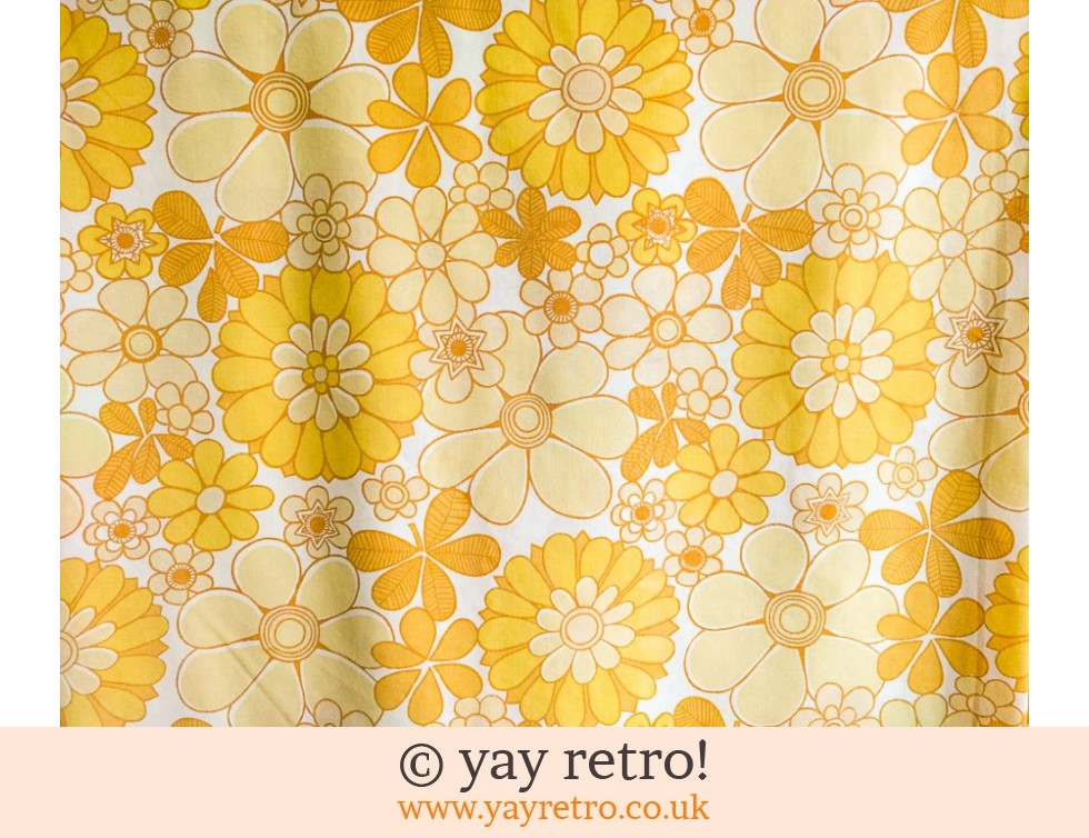 Marks & Spencer: Vintage Double Flower Power Yellow Sheet (£24.50)