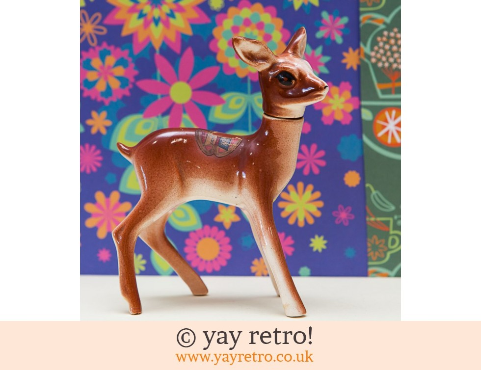 Rynbende: Large Vintage China Deer 50/60s (rare) (£12.00)