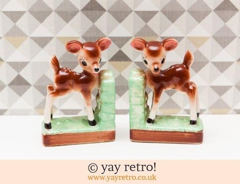 0: Large Rare Vintage Deer Bookends 50/60s (£34.00)