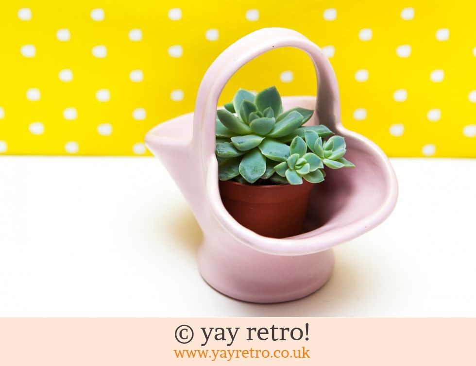 Cute Pink Basket Vase (£2.50)