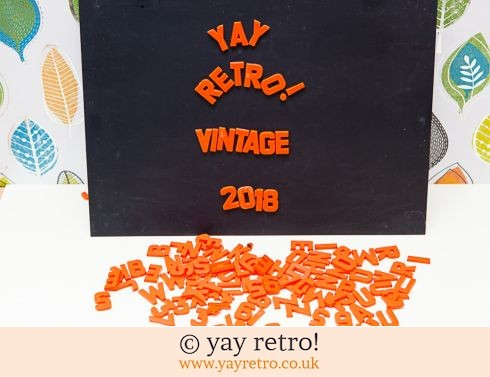 0: Magnetic Letters and Board Set - Orange - 1972 (£20.00)