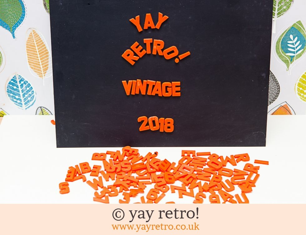 Magnetic Letters and Board Set - Orange - 1972 (£29.99)