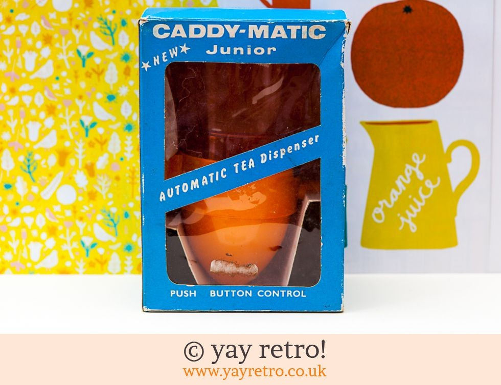 Orange Boxed Unused Caddy-Matic Tea Dispenser (£51.00)