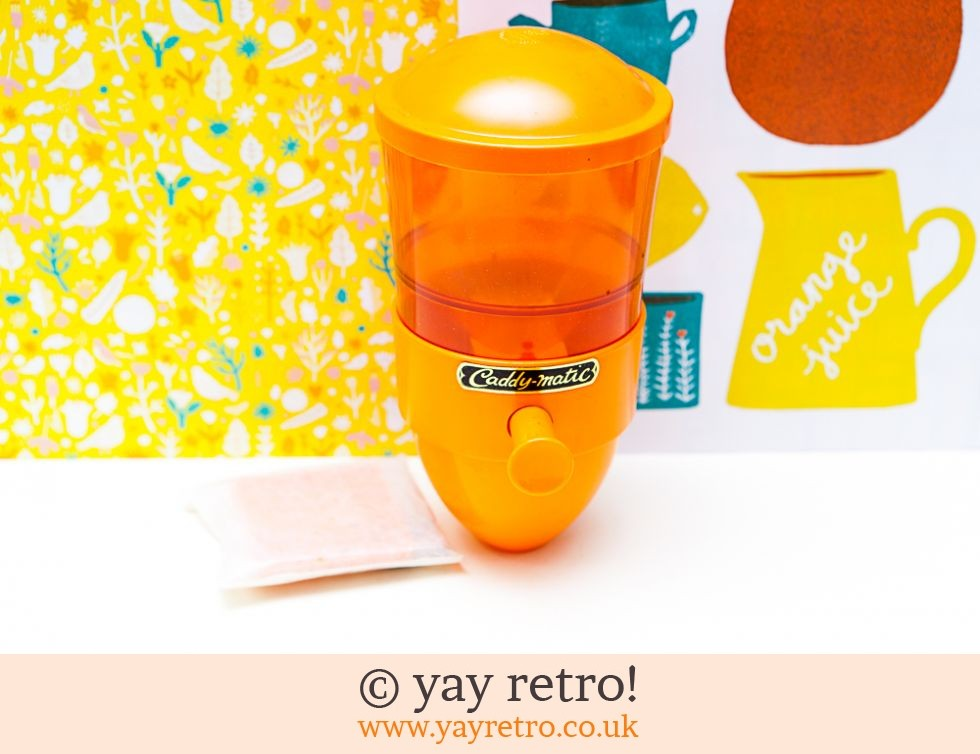 Caddy-Matic: Orange Boxed Unused Caddy-Matic Tea Dispenser (£51.00)