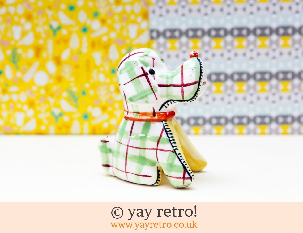 1950s Green Check 'Harlequinade' Dog (£14.00)