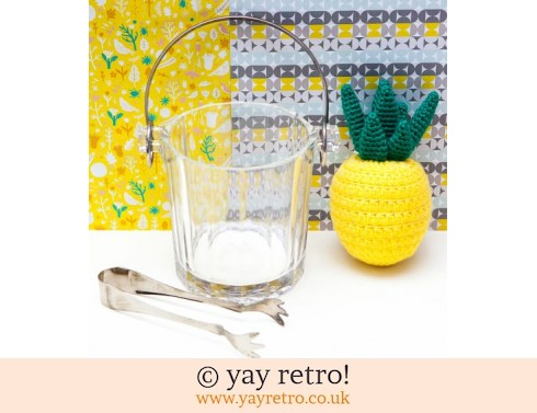 Vintage Glass Ice Bucket and Tongs (£14.00)