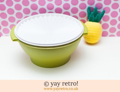 46: Vintage Tupperware Large Lidded Mixing Bowl (£8.50)