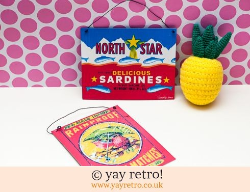 Retro Signs - Sardines and Robins (£5.50)