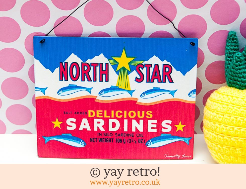 Retro Signs - Sardines and Robins (£7.00)