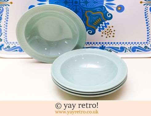 58: 4 Beryl Lipped Dishes (£14.70)