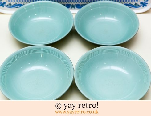 58: 4 Woods Beryl Dishes (£12.50)