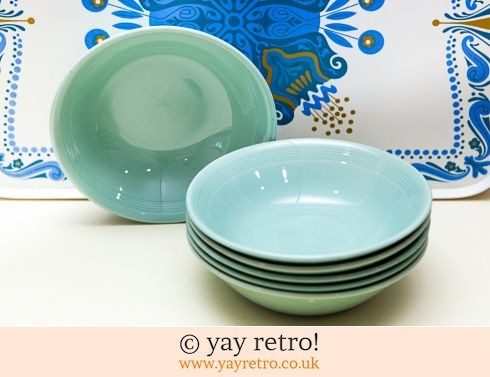 58: 6 Woods Beryl Dishes (£17.25)