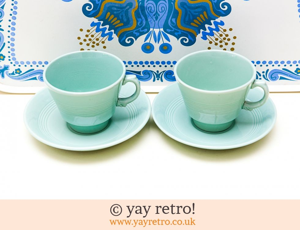 Woods Ware: Beryl Cups and Saucers x 2 (£12.00)