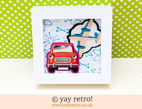 0: 1960s Car & Plane Framed Picture (£7.50)