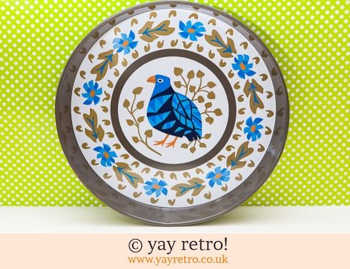 102: Blue Bird Worcester ware Tray RARE (£26.00)