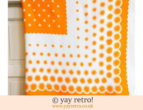 0: Vintage Yellow Star Tablecloth (£6.00)