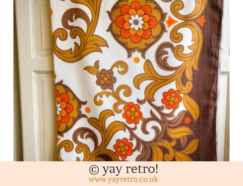 0: 1970s Orange Flower Power Tablecloth (£16.00)