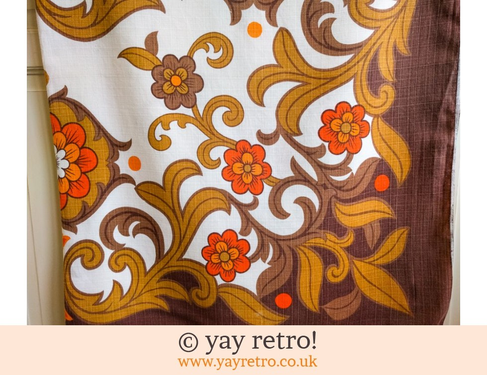 1970s Orange Flower Power Tablecloth (£16.00)