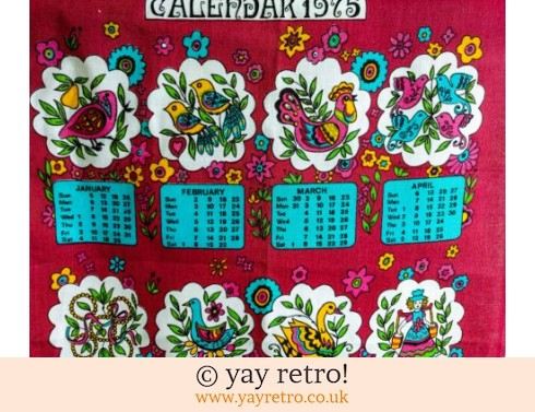 0: 1975 Calendar Tea Towel Scandi Styled (£8.00)