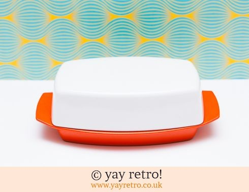 35: Orange Gaydon Melamine Butter Dish (£17.50)
