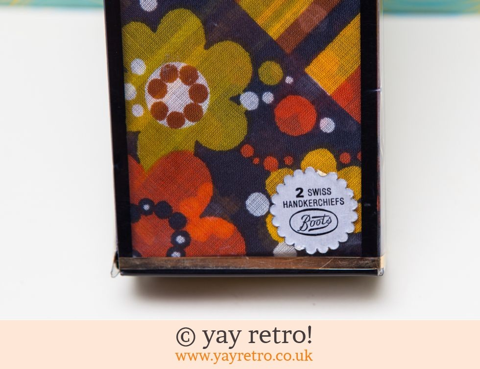 Boots: Scandi Flower Power 70s Hankies Boxed and Unused (£12.75)