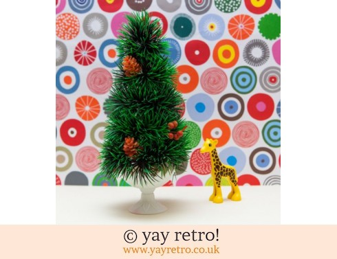 0: Tall Kitsch Vintage Christmas Tree in Pot (£11.00)