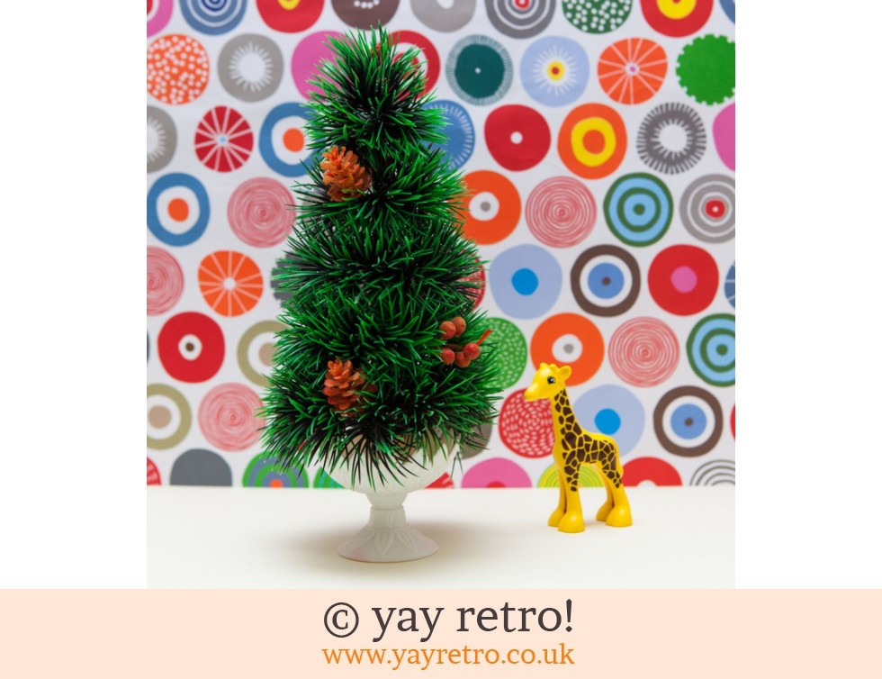 Tall Kitsch Vintage Christmas Tree in Pot (£8.00)