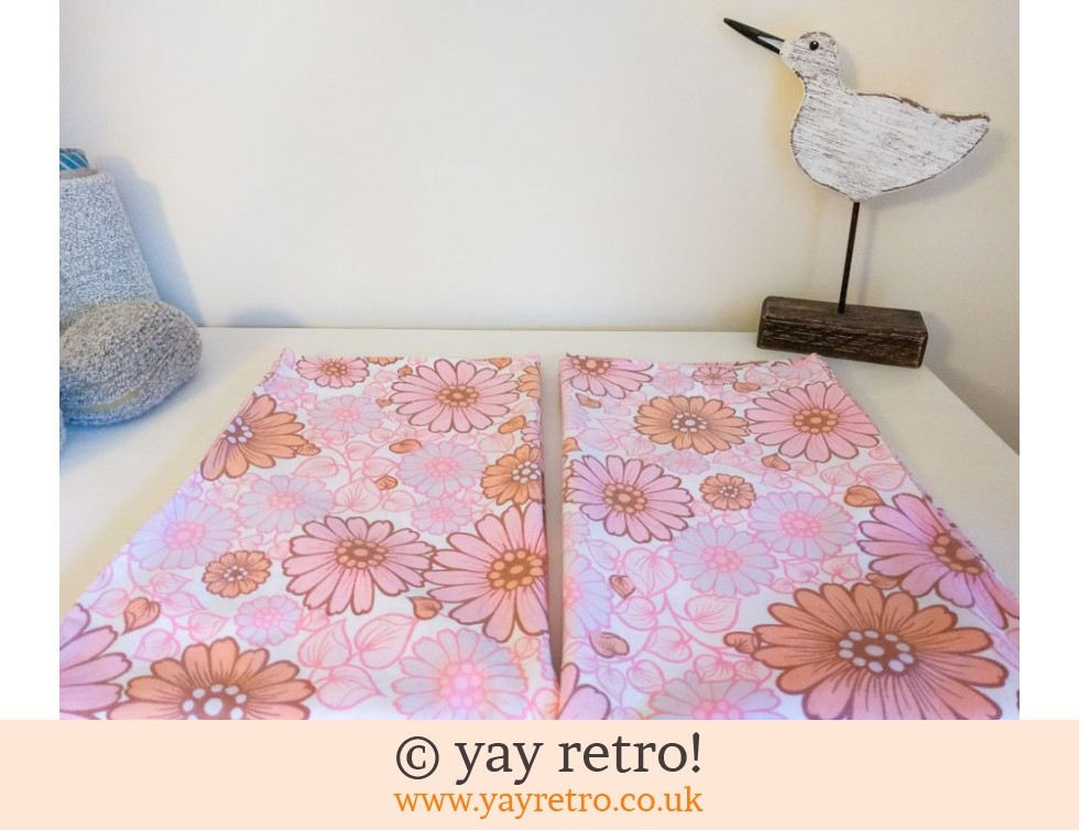 Pink Flowery Vintage Pillowcases (£9.95)