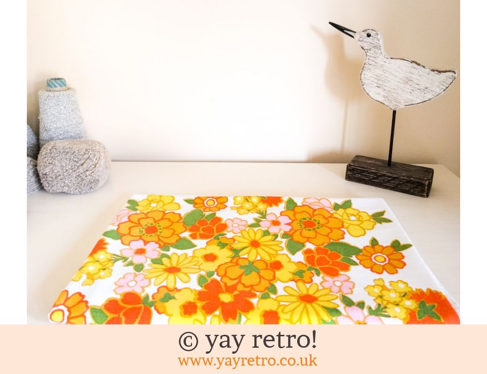 Flower Power Orange Tablecloth 1960/70s (£24.00)
